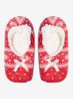 Dorothy Perkins Red Fairisle Ballerina Socks
