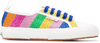 Mira Mikati Glitter Striped Sneakers