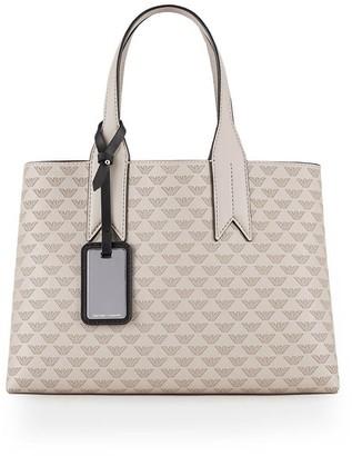 Emporio Armani Monogram Taupe Handbag