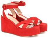 Gianvito Rossi Billie suede platform sandals
