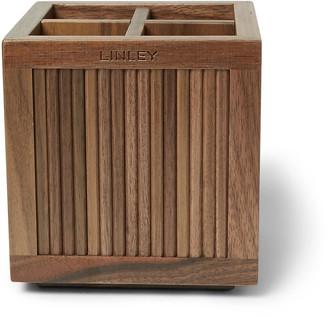 Linley Tambour Walnut Pencil Pot
