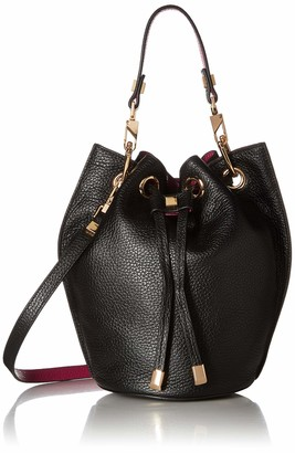 Luana Italy Women's Carla Mini Bucket Ebony Fuchsia