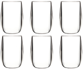 BarLuxe BPA Free Unbreakable Stemless Wine Glasses (Set of 6)