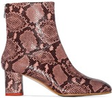 Aeyde 60mm Mel snake-effect ankle boots