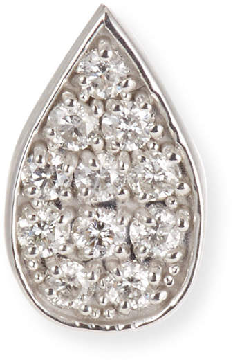 Sydney Evan 14k White Gold Diamond Paisley Petal Stud Earring (Single)
