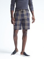 "Banana Republic Aiden Slim Large Check 10"" Short"