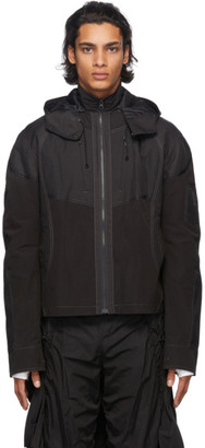 Hyein Seo Black Paneled Jacket
