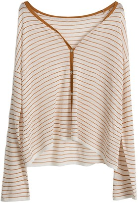 Goodnight Macaroon 'Maddie' Light Weight Striped Cardigan (3 Colors)