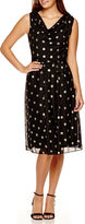 Ronni Nicole RN Studio by Sleeveless Dot Fit-and-Flare Dress