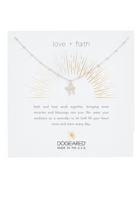 Dogeared Sterling Silver Love Faith Chai Charm Necklace