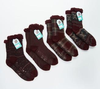 Muk Luks Men's Cabin Socks Set of 4