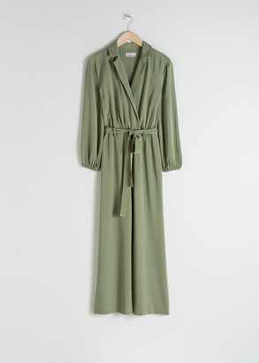And other stories Belted Long Sleeve Jumpsuit