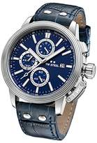 TW Steel 'CEO Adesso' Quartz Stainless Casual Watch, Color:Blue (Model: CE7008)