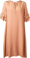 See by Chloe ruffled cuff dress - women - Silk/Viscose - 36