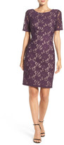 Adrianna Papell AP1D100772 Lace Bateau Sheath Dress