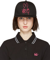 McQ by Alexander McQueen Black & Pink Logo Cap