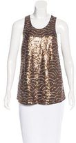 Gryphon Sequin-Embellished Sleeveless Top