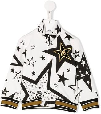 Dolce & Gabbana Kids Star-Print Bomber Jacket