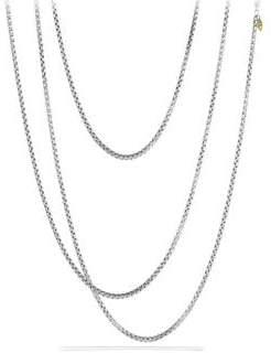 "David Yurman Medium Box Chain Necklace with Gold/72"""