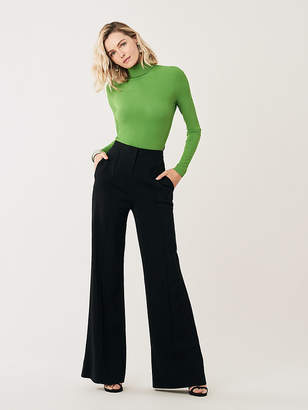 Diane von Furstenberg Kiersten High-Waisted Wide-Leg Pants
