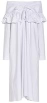Isa Arfen Off-The-Shoulder Ruffle Dress
