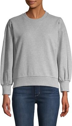 Rebecca Minkoff Balloon-Sleeve Cotton Sweatshirt