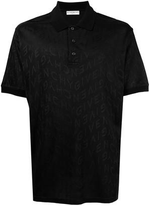 Givenchy zig-zag logo polo T-shirt