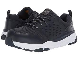 Skechers Soven Alloy Toe SR (Black/Gray) Men's Shoes