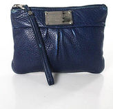 Marc by Marc Jacobs Blue Leather Small Ruched Clutch Wallet Handbag