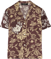 Mick embroidered silk shirt