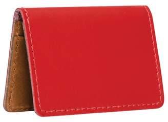 N'damus London Red & Tan Leather Credit Card Holder