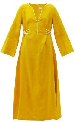 ZEUS + DIONE Hydra Linen Kaftan - Yellow