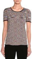 Missoni Space-Dye Crewneck T-Shirt, Multicolor