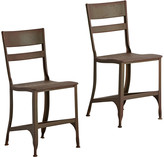 Rejuvenation Pair of Rusted Steel Toledo Factory Chairs