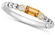Lagos 18K Gold & Sterling Silver Citrine & Diamond Stacking Ring