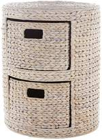 Very Round Arrow Weave 2-Drawer Storage Unit - White
