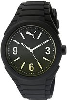 Puma Unisex PU103592010 Gummy fading black yellow Analog Display Watch