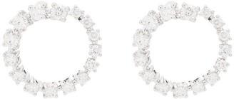 Dana Rebecca Designs 14kt White Gold Diamond Hoop Earrings