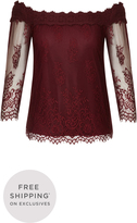 City Chic Soft Lace Top