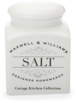 Maxwell & Williams Cottage Kitchen 0.5 Litre Salt Canister - Gift Boxed