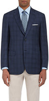 Brioni Men's Overplaid Wool-Silk Two-Button Sportcoat