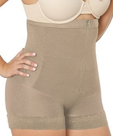 Cocoon Nude Zip-Front Thermal Girdle Shaper Shorts - Plus