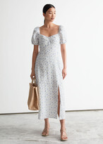 Thumbnail for your product : And other stories Puff Sleeve Linen Midi Dress