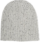 Alex Mill Men's Donegal-Effect Chunky Rib-Knit Cashmere Beanie-IVORY, BLACK