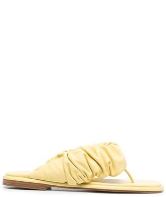 Hereu Ruched Thong Sandals