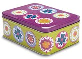 "Cooksmart Large Print ""Suzani B"" Rectangular Tin, Multi-Colour"