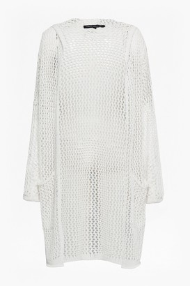 French Connection Faye Knit Oversized Fishnet Cardigan