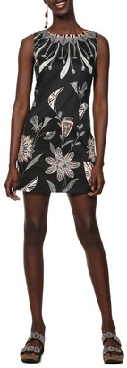 Desigual Kika Floral Print Mini Dress