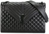 Saint Laurent large 'Monogram' satchel - women - Calf Leather - One Size
