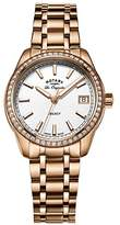 Rotary Women's Quartz White Dial Analogue Display and Rose Gold Stainless Steel Bracelet LB90176/01